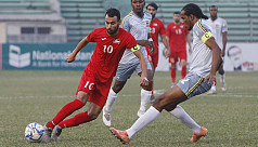 Palestine toil hard to reach final