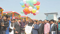 Special bus service for students launched in Chittagong