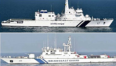 Indian Coast Guard ships arrive in Mongla...