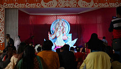 Saraswati Puja being celebrated