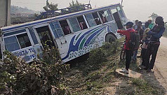 Bus carrying 33 passengers including SSC examinees meets with accident