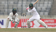Mushfiq double century as Bangladesh declare on 550/6