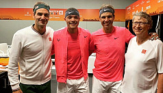 Federer, Nadal play to record crowd...