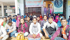 BSMRSTU students continue protest, academic activities halted