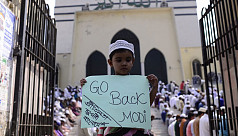 In pictures: Muslims in Dhaka protest against Delhi riot