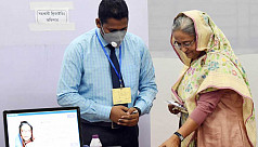 Dhaka 10 by-polls: PM casts vote at Dhaka City College centre
