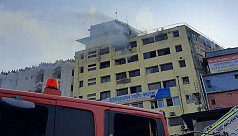 Fire at Mohakhali building