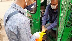 School children join fight against coronavius, spray disinfectants in Rampura