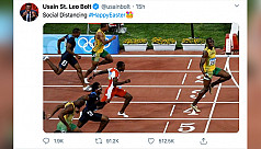 Bolt goes viral with social distancing...
