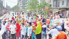 RMG workers continue protests in Dhaka,...