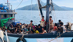 Rohingyas rescued from sea sent to Bhashan...