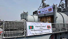 Bangladesh Navy ship sails for Maldives with food, medicines