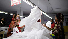 In pictures: PPE production at a garment factory