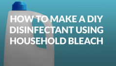 How to make a DIY disinfectant using...