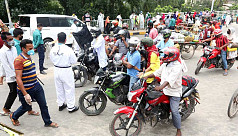Cars allowed in and out of Dhaka on...