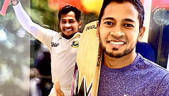 Mushfiq bat launched to an auction
