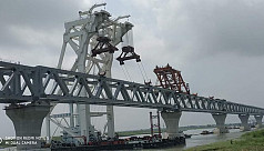 29th span installed, 4.35 km now visible of Padma Bridge