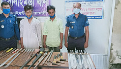Large stock of weapons recovered in...