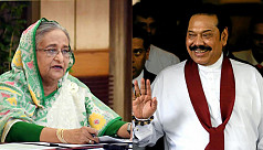 Hasina greets Rajapaksa for his party's election victory