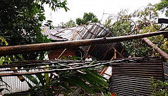 Nor'wester destroys 50 houses in Lalmonirhat