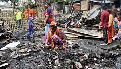 Mysterious blaze destroys lives in Kamalapur slum