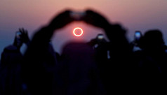 Rare 'ring of fire' solar eclipse to...
