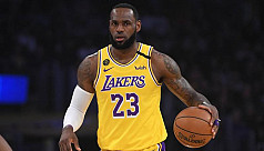 NBA star LeBron James takes on voter...