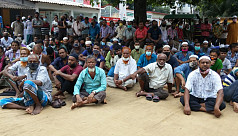 Jute mill workers protest in Khulna