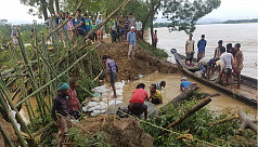 Flooding: Surma river dikes collapse...
