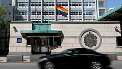 Putin mocks US embassy for flying rainbow flag