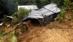 Thousands living at risk of landslide...