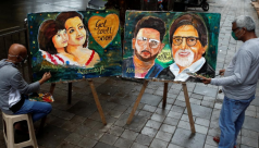 Fans in India pray for Bollywood's Bachchans...