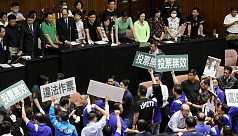 Fighting again in Taiwan parliament over disputed nomination