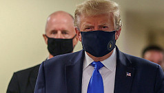 Trump finally dons mask as US sets new coronavirus case record