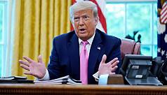 Trump, sinking in polls, shifts tone...