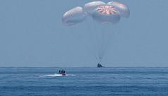 Nasa astronauts cap historic odyssey aboard SpaceX Crew Dragon capsule