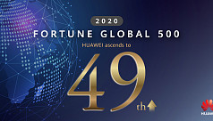 Huawei ranks 49th in Fortune Global...