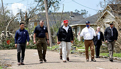 Trump tours parts of Louisiana, Texas...