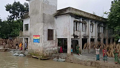 School under river erosion threat in Madaripur