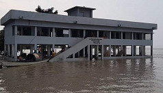 Another school building swept away by Padma in Madaripur