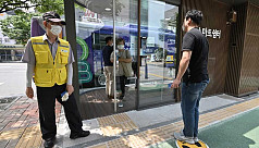 Bus stop newest front in South Korea's coronavirus battle