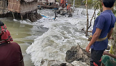 Tidal surge causes embankments to collapse, inundates villages in Khulna