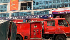 Fire at World University in Dhaka