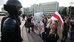 'Hands off the children' masked men arrest protesting Belarusian students