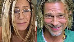 Watch: Jennifer Aniston, Brad Pitt get flirty at reunion
