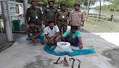 3 detained for fishing with insecticide...