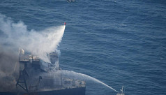 Sri Lanka navy holds blazing supertanker off east coast