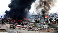 Huge blaze at Beirut port alarms residents a month after massive blast