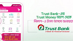 Money transfer from Trust Bank to bKash...