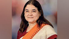 Animal rights activist Maneka Gandhi...